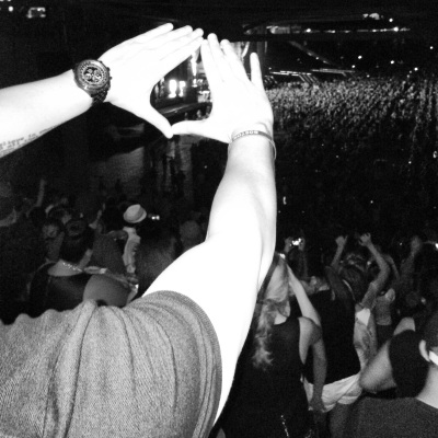 Throwing up the Roc with Jay-Z in Fenway Park. Fucking epic moment for me right there people.