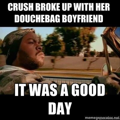 "There aren't enough Ice Cube ""Today Was A Good Day"" memes in my opinion"