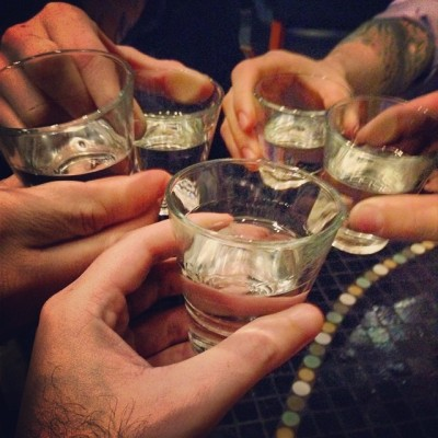 Real men drink shots of sambuca and toast to everything
