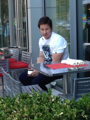 Marky Mark was in town for my T-cation but he wouldn't get off the phone with Donnie and the rest of the fucking New Kids!