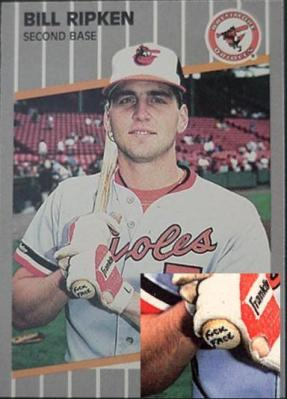 "The Billy Ripken ""Fuck Face"" error card was one of the hardest cards to find when I was a kid. Today? It has very little value. Life lesson? Sometimes the rare ones turn out to be worth shit so be careful what you invest in."