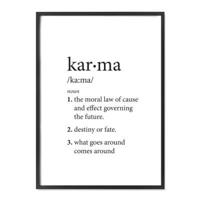 The start of my 2016 has inspired this T-pisode. Karma at it's finest.