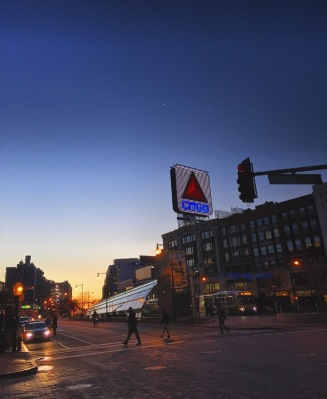 I still live in the city because living in the city and seeing sunsets over the CITGO sign near Fenway Park make me happy. And you don't get to see this in the suburbs everyday.