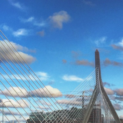 The Zakim Bridge in Boston is the closest thing I have to a rollercoaster pic, people. Sorry. I'm still banned from most amusement parks from my teenage years.